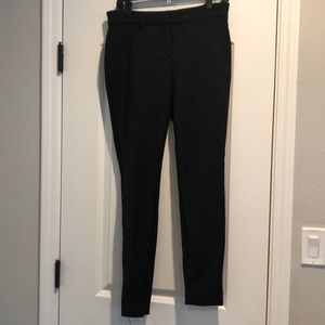 Black skinny ankle, mid-rise trousers